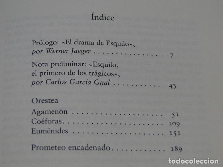 Libros de segunda mano: ORESTEA. PROMETEO ENCADENADO. - ESQUILO - Foto 2 - 125410755