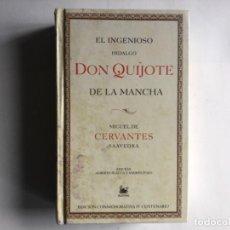 Libros de segunda mano: EL INGENIOSO HIDALGO DON QUIJOTE DE LA MANCHA. EDICIÓN CONMEMORATIVA IV CENTENARIO. . Lote 125439199