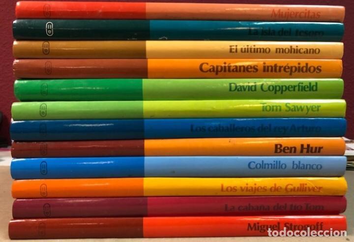 CLÁSICOS COLOR EDELVIVES - LOTE DE 12 NÚMEROS - ED. EDELVIVES, 1986. MUJERCITAS, LA ISLA DEL TESORO, (Libros de Segunda Mano (posteriores a 1936) - Literatura - Narrativa - Clásicos)