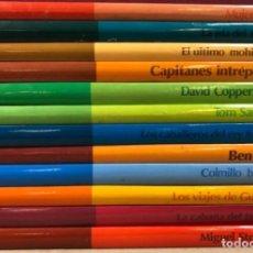 Libros de segunda mano: CLÁSICOS COLOR EDELVIVES - LOTE DE 12 NÚMEROS - ED. EDELVIVES, 1986. MUJERCITAS, LA ISLA DEL TESORO,. Lote 125482711