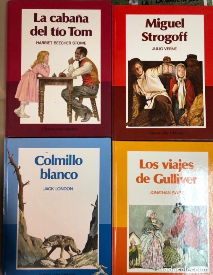 Libros de segunda mano: CLÁSICOS COLOR EDELVIVES - LOTE DE 12 NÚMEROS - ED. EDELVIVES, 1986. MUJERCITAS, LA ISLA DEL TESORO, - Foto 2 - 125482711
