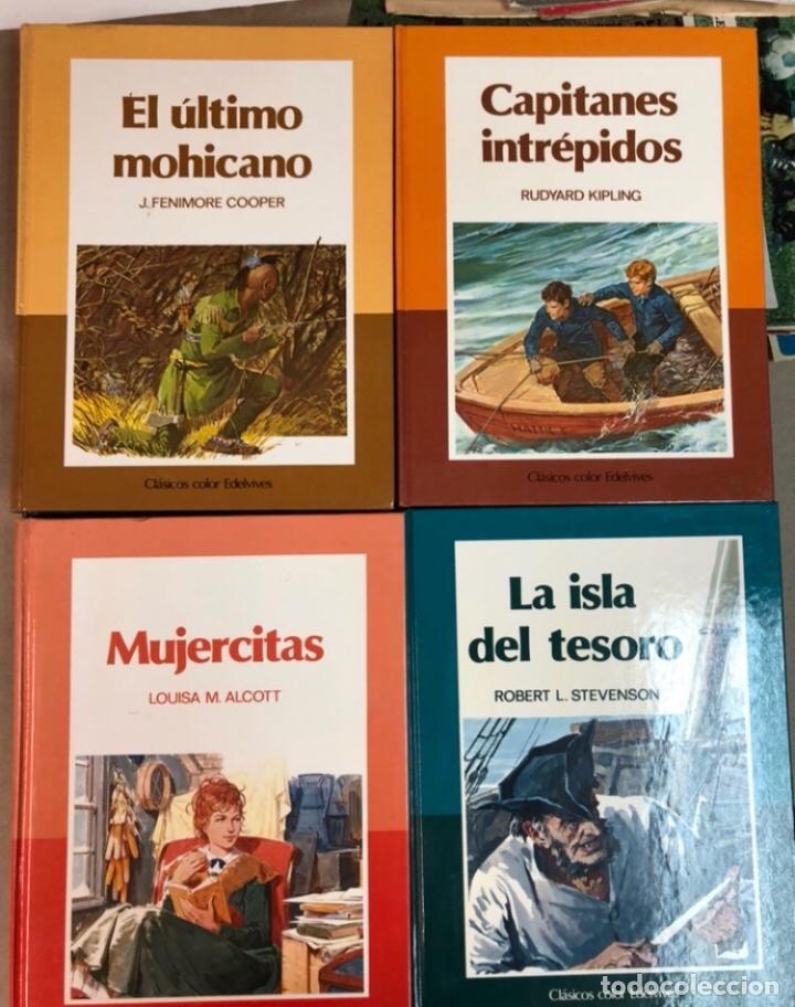 Libros de segunda mano: CLÁSICOS COLOR EDELVIVES - LOTE DE 12 NÚMEROS - ED. EDELVIVES, 1986. MUJERCITAS, LA ISLA DEL TESORO, - Foto 3 - 125482711