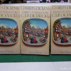 Libros de segunda mano: CHARLES DICKENS LOS PAPELES POSTUMOS DEL CLUB PICKWICK 3 VOLS ALIANZA EDITORIAL COMO NUEVOS. Lote 125866931