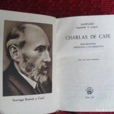 Libros de segunda mano: EDITORIAL AGUILAR. CHARLAS DE CAFE: RAMON Y CAJAL. CRISOL Nº243 . Lote 126240187
