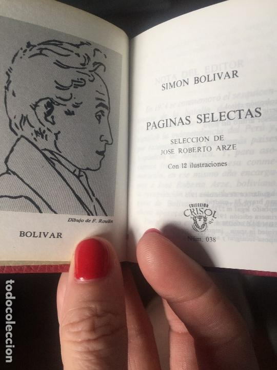 SIMÓN BOLÍVAR COLECCIÓN CRISOL Nº 038 PÁGINAS SELECTAS DISCURSOS Y PROCLAMAS (Libros de Segunda Mano (posteriores a 1936) - Literatura - Narrativa - Clásicos)