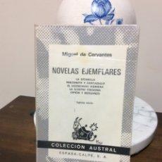Libros de segunda mano: NOVELAS EJEMPLARES. MIGUEL DE CERVANTES. COLECCIÓN AUSTRAL.. Lote 126625878