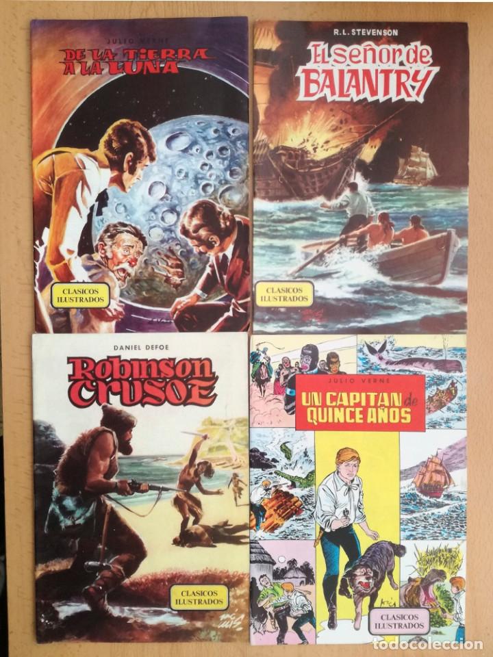 Libros de segunda mano: Cuentos Clásicos Ilustrados nº 2-3-4-5-6 1984 Editorial Valenciana. Daniel Defoe, Julio Verne..... - Foto 3 - 19169665
