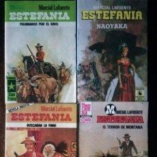 Libros de segunda mano: ESTEFANÍA MARCIAL LAFUENTE 9 NOVELAS OESTE BRUGUERA ZINCO AÑOS 80 NUEVO. Lote 128127063