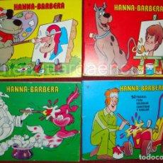 Libros de segunda mano: SCOOBY-DOO 4 TOMOS DE HANNA-BARBERA EDIPRINT 1977 PARA COLOREAR-COLECCIÓN BLOQUE COLOR NUEVO. Lote 128199515