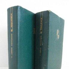 Libros de segunda mano: WILLIAM FAULKNER. OBRAS ESCOGIDAS. TOMO I Y II. MIENTRAS AGONIZO, UNA FABULA... EDITORIAL AGUILAR. Lote 128398319