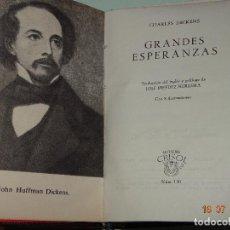 Libros de segunda mano: GRANDES ESPERANZAS DE CHARLES DICKENS Nº 130 CRISOL DE LA EDITORIAL AGUILAR AÑO 1964. Lote 128656743
