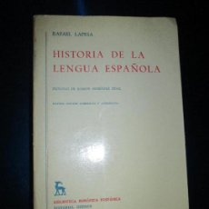 Libros de segunda mano: LIBRO-HISTORIA DE LA LENGUA ESPAÑOLA-RAFAEL LAPESA-EDITORIAL GREDOS-NVENA EDICIÓN-1981-BUEN ESTADO. Lote 128831139