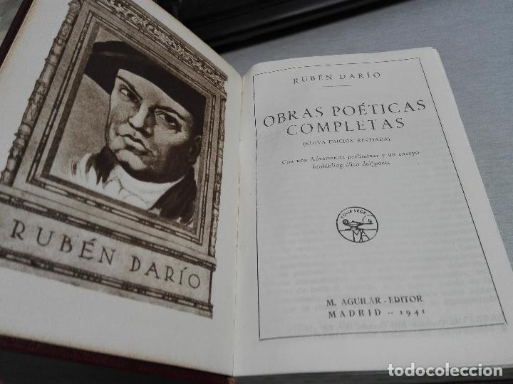 Libros de segunda mano: RUBÉN DARÍO - OBRAS POÉTICAS COMPLETAS / AGUILAR 1941 - Foto 2 - 129135787