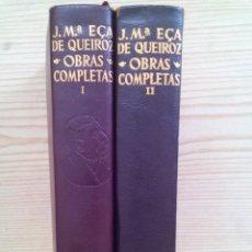 Libros de segunda mano: JOSE MARIA ECA DE QUEIROZ - OBRAS COMPLETAS - TOMOS I-II - 1964 - AGUILAR . Lote 130072855