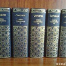 Libros de segunda mano: JOSEPH CONRAD - OBRAS COMPLETAS EN 5 TOMOS (COLECCIÓN COMPLETA) RBA AGUILAR 2005. Lote 43281158
