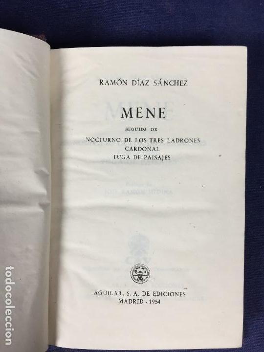 MENE NOCTURNO DE LOS TRES LADRONES CARDONAL FUGA DE PAISAJES RAMÓN DÍAZ SÁNCHEZ AGUILAR 1954 (Libros de Segunda Mano (posteriores a 1936) - Literatura - Narrativa - Clásicos)