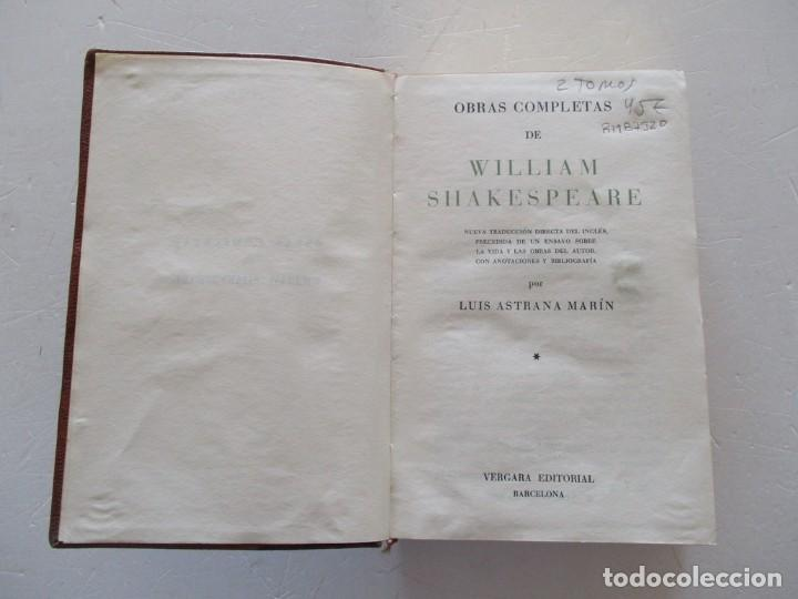 Libros de segunda mano: WILLIAM SHAKESPEARE Obras Completas. Tomos I y II. DOS TOMOS. RM87520 - Foto 2 - 130996808