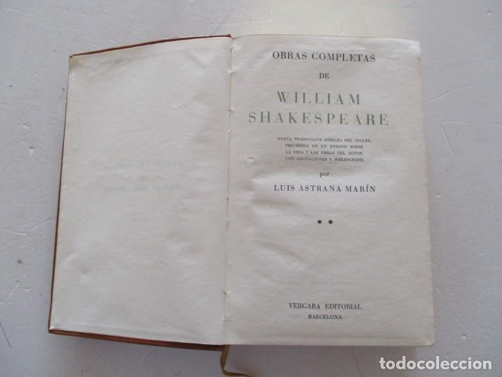 Libros de segunda mano: WILLIAM SHAKESPEARE Obras Completas. Tomos I y II. DOS TOMOS. RM87520 - Foto 5 - 130996808