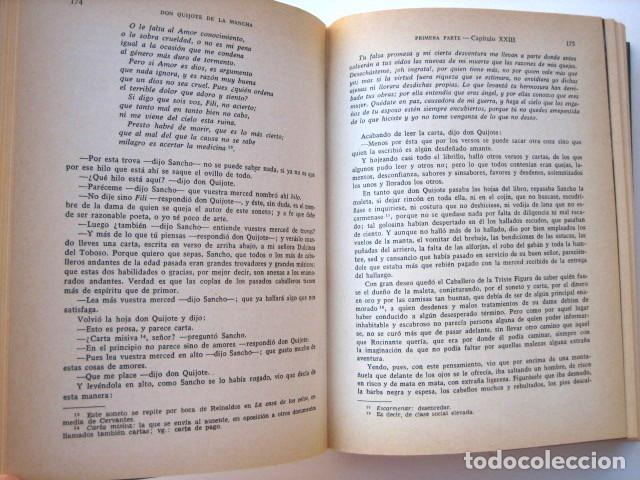Libros de segunda mano: El ingenioso hidalgo Don Quijote de la Mancha, de Cervantes. Editorial Everest. 1978 - Foto 4 - 131044340