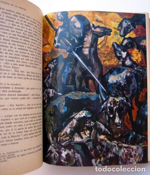 Libros de segunda mano: El ingenioso hidalgo Don Quijote de la Mancha, de Cervantes. Editorial Everest. 1978 - Foto 5 - 131044340