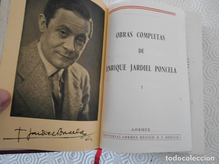 Libros de segunda mano: OBRAS COMPLETAS DE ENRIQUE JARDIEL PONCELA. I. EDITORIAL AHRMEX, MEXICO. SEGUNDA EDICION, 1960. PIEL - Foto 2 - 131144992