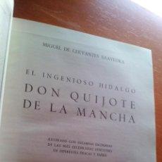 Libros de segunda mano: DON QUIJOTE DE LA MANCHA - CERVANTES - 1967 - ESPASA - ILUSTRADO CON ESTAMPAS DE EPOCA. Lote 131269323