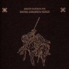 Libros de segunda mano: EL INGENIOSO HIDALGO DON QUIJOTE DE LA MANCHA. EDICIÓN ILUSTRADA POR DANIEL URRABIETA. 2 TOMOS.. Lote 131275071