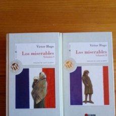 Libros de segunda mano: LOS MISERABLES - VICTOR HUGO (2 TOMOS). Lote 131764866