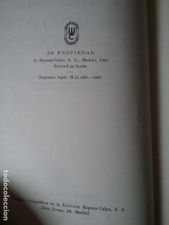 Libros de segunda mano: Quijote. Espasa Calpe, 1967. Ilustraciones de las mas celebradas ediciones de diferentes epocas y - Foto 3 - 132166538
