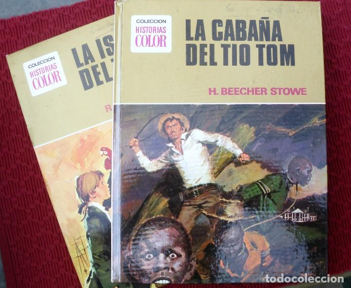 LA CABAÑA DEL TIO TOM Y LA ISLA DEL TESORO , BRUGUERA AÑO 1975. COLECCIÓN HISTORIAS COLOR. (Libros de Segunda Mano (posteriores a 1936) - Literatura - Narrativa - Clásicos)