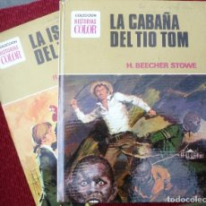 Libros de segunda mano: LA CABAÑA DEL TIO TOM Y LA ISLA DEL TESORO , BRUGUERA AÑO 1975. COLECCIÓN HISTORIAS COLOR.. Lote 132294834