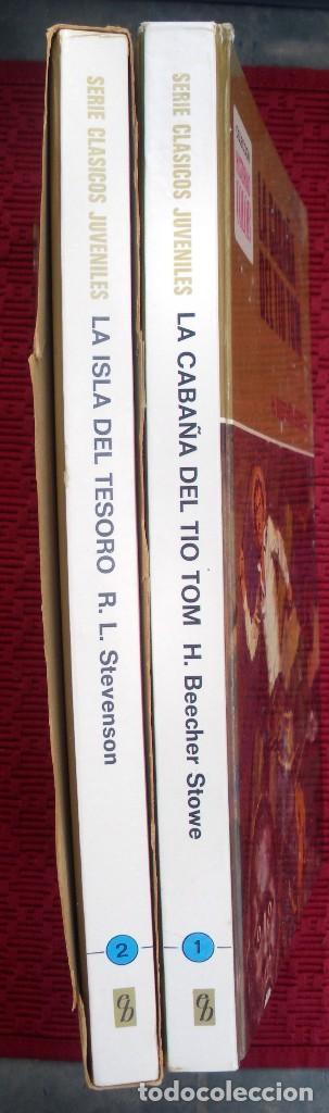 Libros de segunda mano: La cabaña del tio tom y la isla del tesoro , bruguera año 1975. colección historias color. - Foto 2 - 132294834