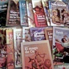 Libros de segunda mano: LOS GRANDES TÍTULOS DE LA NOVELA JUVENIL - 16 TOMOS (DIARIO PÚBLICO, 2008) FALTAN EL Nº 8 Y 9.NUEVOS. Lote 132438158