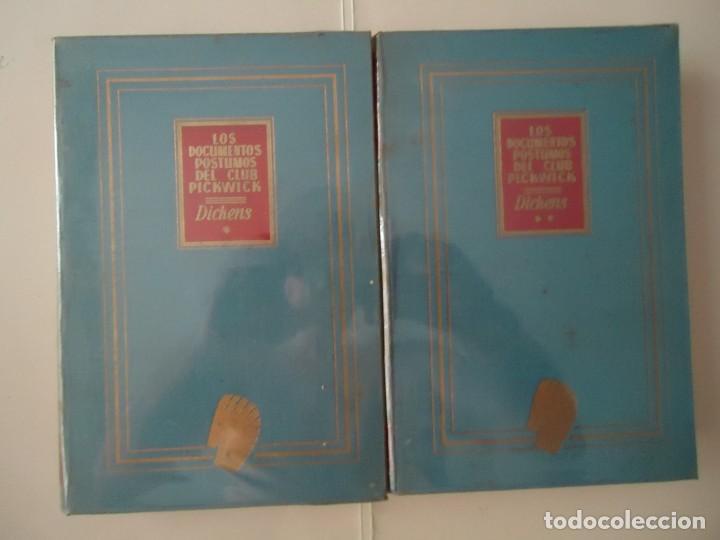 LIBRO. LOS DOCUMENTOS PÓSTUMOS DEL CLUB PICKWICK, TOMOS UNO Y DOS. DICKENS.1ª EDICIÓN. (Libros de Segunda Mano (posteriores a 1936) - Literatura - Narrativa - Clásicos)
