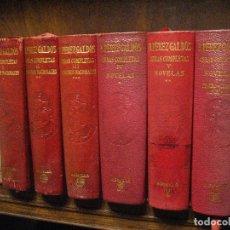 Livros em segunda mão: B. PÉREZ GALDÓS OBRAS COMPLETAS 6 TOMOS ED. AGUILAR ENCUADERNADOS EN PIEL RESERVADO. Lote 132690110