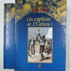 Libros de segunda mano: UN CAPITAN DE 15 AÑOS. TOMO I Y II. LOS VIAJES EXTRAORDINARIOS JULIO VERNE. EDICIONES RUEDA. TDK146. Lote 132925726