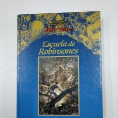 Libros de segunda mano: ESCUELA DE ROBINSONES. LOS VIAJES EXTRAORDINARIOS JULIO VERNE. EDICIONES RUEDA. TDK146. Lote 132925934