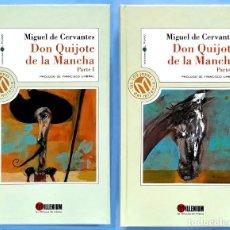 Libros de segunda mano: EL INGENIOSO HIDALGO DON QUIJOTE DE LA MANCHA – CERVANTES (2 VOLÚMENES). Lote 133005374