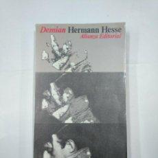 Libros de segunda mano: DEMIAN. HISTORIA DE LA JUVENTUD DE EMIL SINCLAIR.- HESSE, HERMANN. ALIANZA EDITORIAL. TDK19. Lote 133041510