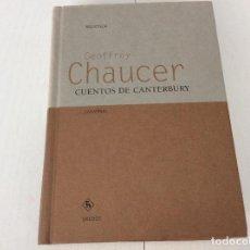 Libros de segunda mano: GEOFFREY CHAUCER EDITORIAL GREDOS BIBIOTECA UNIVERSAL. IMPECABLE. Lote 134714638