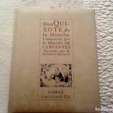 Libros de segunda mano: DON QUIJOTE DE LA MANCHA - ILUSTRADO POR ANTONIO MINGOTE, , COMPLETA. Lote 134754254