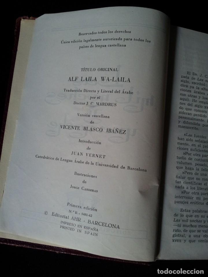 Libros de segunda mano: LAS MIL Y UNA NOCHES TOMO I - EDITORIAL AHR - PRIMERA EDICION 1962 - Foto 6 - 135345506