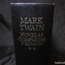 Libros de segunda mano: ENV.PENINSULA 4,66€ NOVELAS Y ENSAYOS MARK TWAIN AGUILAR TOMO II 5ª EDICIÓN 1973 FOTOS DESCRIPCIÓN. Lote 135895346