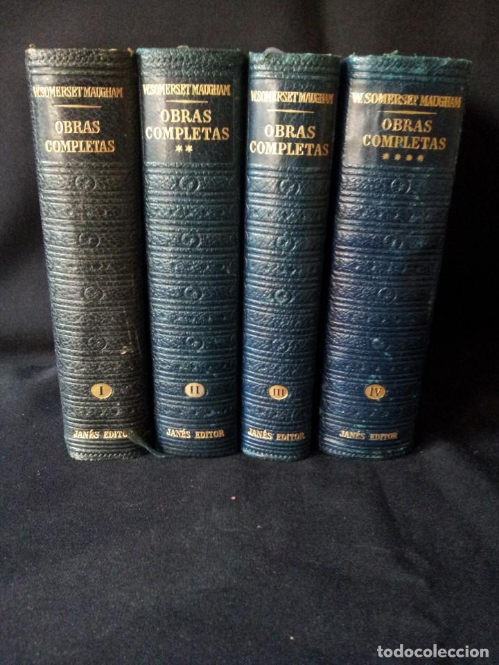Libros de segunda mano: W. SOMERSET MAUGHAM - OBRAS COMPLETAS 4 TOMOS - PLAZA & JANES EDITOR - Foto 4 - 135999874