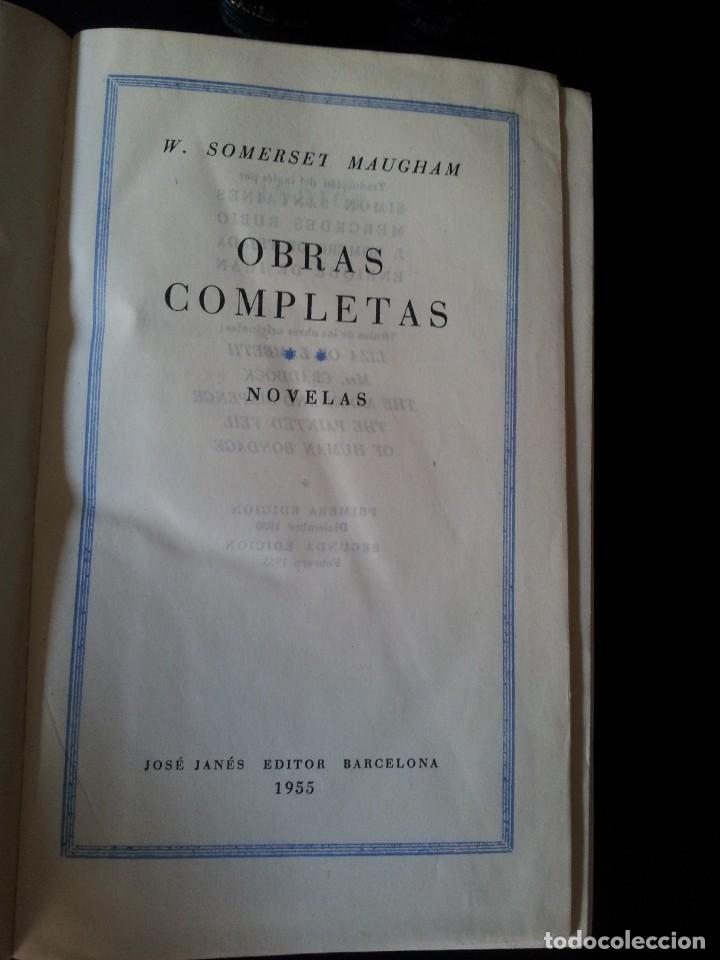 Libros de segunda mano: W. SOMERSET MAUGHAM - OBRAS COMPLETAS 4 TOMOS - PLAZA & JANES EDITOR - Foto 5 - 135999874