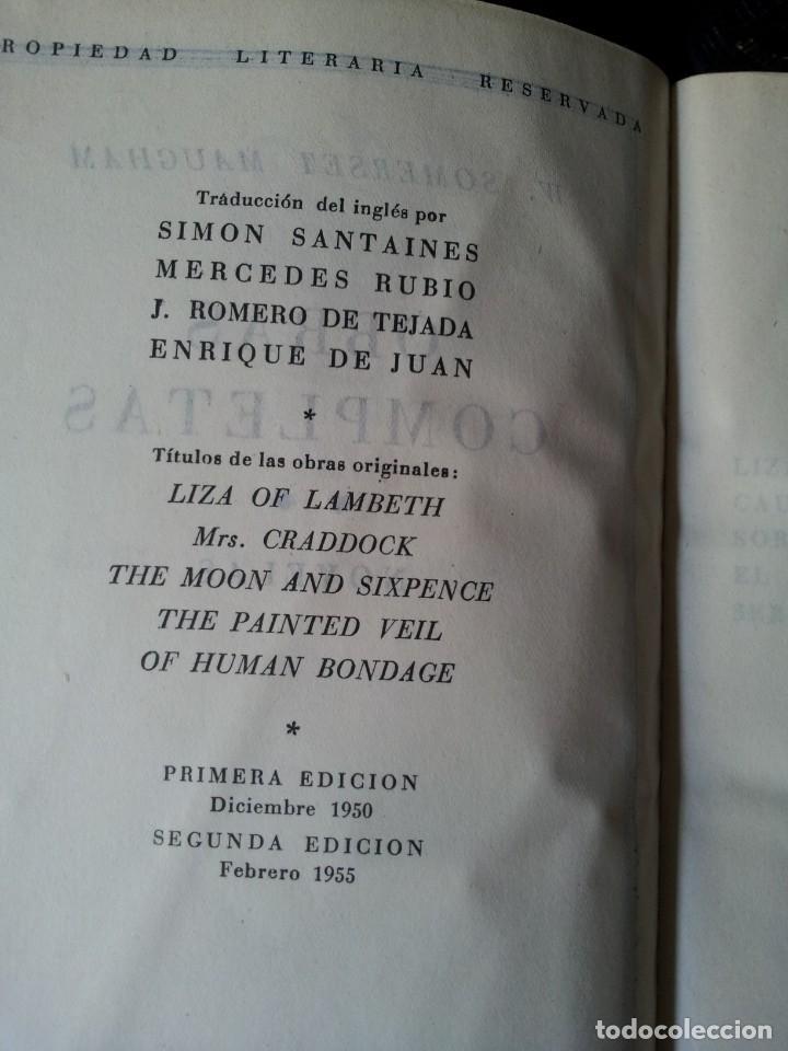 Libros de segunda mano: W. SOMERSET MAUGHAM - OBRAS COMPLETAS 4 TOMOS - PLAZA & JANES EDITOR - Foto 6 - 135999874