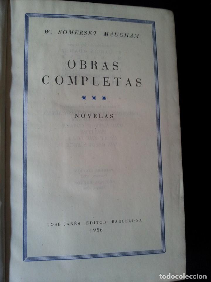 Libros de segunda mano: W. SOMERSET MAUGHAM - OBRAS COMPLETAS 4 TOMOS - PLAZA & JANES EDITOR - Foto 7 - 135999874