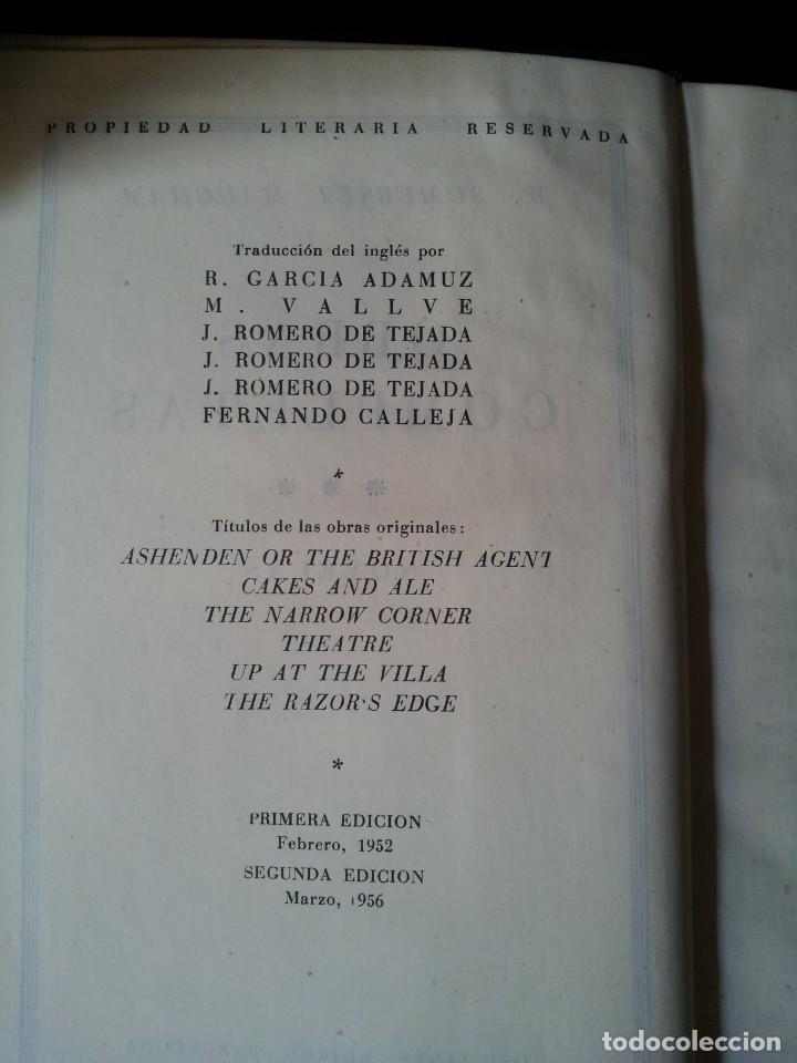Libros de segunda mano: W. SOMERSET MAUGHAM - OBRAS COMPLETAS 4 TOMOS - PLAZA & JANES EDITOR - Foto 8 - 135999874