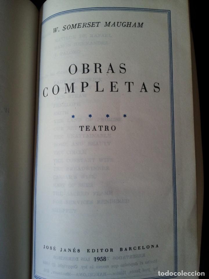 Libros de segunda mano: W. SOMERSET MAUGHAM - OBRAS COMPLETAS 4 TOMOS - PLAZA & JANES EDITOR - Foto 9 - 135999874