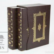 Libros de segunda mano: 2 VOLÚMENES ILUSTRADOS, FACSÍMIL DE DON QUIJOTE DE LA MANCHA. MIGUEL DE CERVANTES - ED. GREDOS, 2012. Lote 136359846